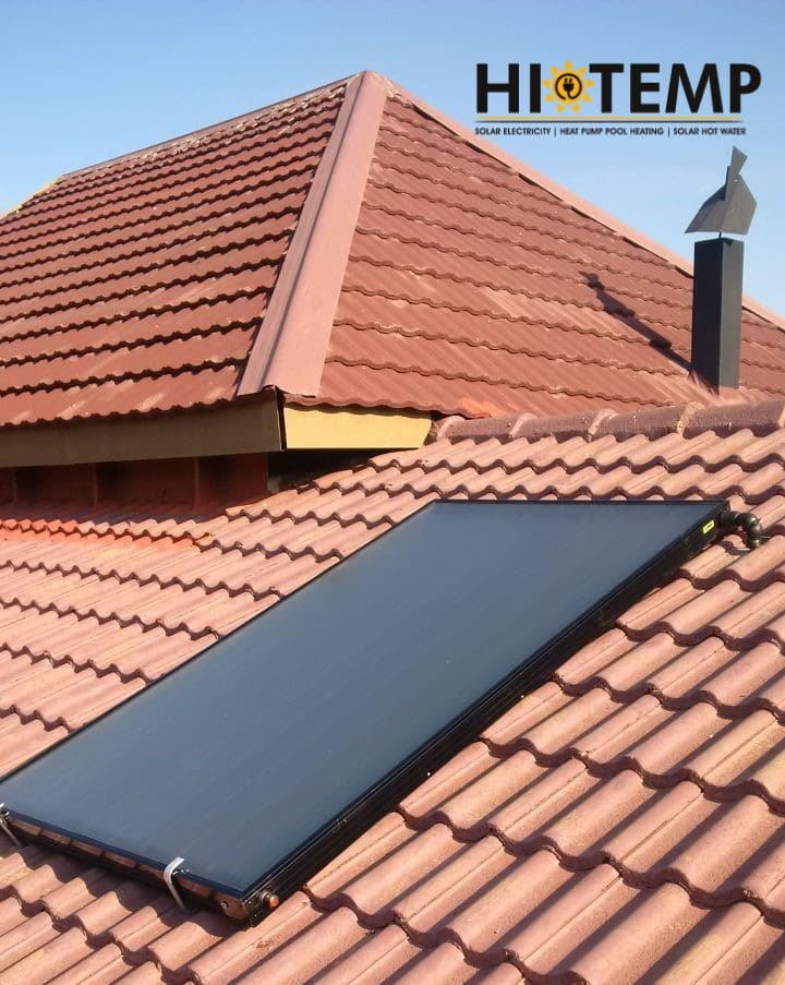Flat Plate Solar Collector Installed
